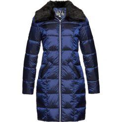 Płaszcz pikowany z materiału z połyskiem bonprix kobaltowy