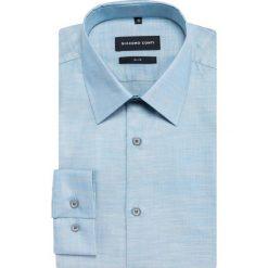 Koszula SIMONE KDNS000383. Niebieskie koszule męskie Giacomo Conti, z bawełny, z klasycznym kołnierzykiem, z długim rękawem. Za 259.00 zł.