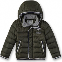 Kurtka zimowa w kolorze khaki. Brązowe kurtki i płaszcze dla chłopców marki Eat ants, na zimę. W wyprzedaży za 197.95 zł.