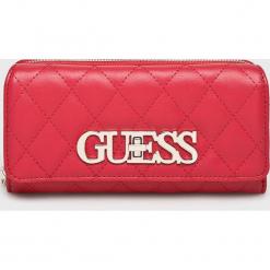 Guess Jeans - Portfel Sweet Candy. Różowe portfele damskie Guess Jeans, z aplikacjami, z jeansu. Za 279.90 zł.