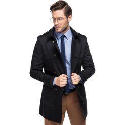Płaszcz ALVARO PSCS000060. Brązowe płaszcze męskie Giacomo Conti, z bawełny, eleganckie. Za 599.00 zł.
