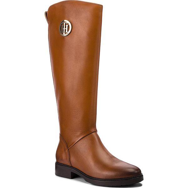 e420c70c0f46d Oficerki TOMMY HILFIGER - Basic Th Riding Boot FW0FW03433 Cognac 606 - Brązowe  kozaki damskie marki Tommy Hilfiger, z materiału. Za 999.00 zł.