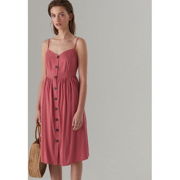 000d9b697b Basicowa midi sukienka - Różowy - Sukienki damskie marki Mohito. Za ...
