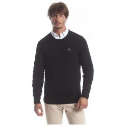 Polo Club C.H..A Sweter Męski M Czarny. Czarne swetry przez głowę męskie Polo Club C.H..A, z okrągłym kołnierzem. W wyprzedaży za 239.00 zł.