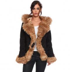 """Kurtka """"Elie"""" w kolorze beżowo-czarnym. Czarne kurtki damskie Cosy Winter, na zimę. W wyprzedaży za 363.95 zł."""