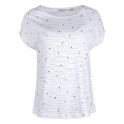 Mustang T-Shirt Damski Aop S Biały. Białe t-shirty damskie Mustang, w paski. W wyprzedaży za 89.00 zł.