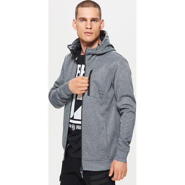 709b4b1d1dc269 Polarowa bluza z kapturem - Jasny szary - Bluzy męskie marki Cropp ...