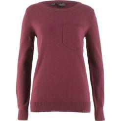 Sweter z kieszonką bonprix czerwony klonowy. Swetry damskie marki KALENJI. Za 59.99 zł.
