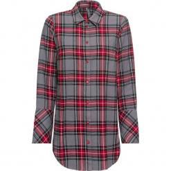 Bluzka w kratę bonprix szaro-czerwony w kratę. Szare bluzki damskie bonprix, ze stójką. Za 89.99 zł.