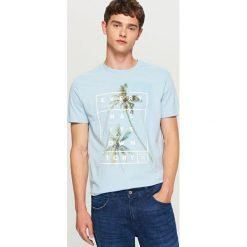 T-shirt z nadrukiem - Niebieski. T-shirty damskie marki Pulp. W wyprzedaży za 29.99 zł.