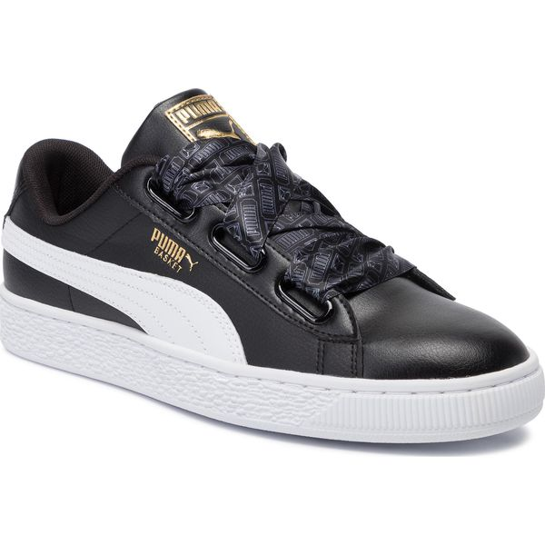 Sneakersy PUMA Basket Heart Reinvent Wn's 369935 02 Puma BlackPuma Black