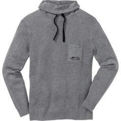 Sweter z szalowym kołnierzem Regular Fit bonprix szary melanż. Swetry przez głowę męskie marki Giacomo Conti. Za 99.99 zł.