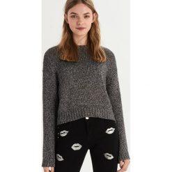 Sweter z połyskującą nicią - Srebrny. Szare swetry damskie Sinsay. Za 79.99 zł.