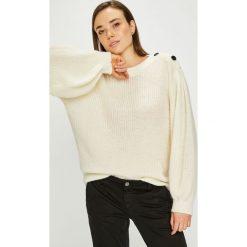 Pepe Jeans - Sweter. Szare swetry damskie Pepe Jeans, z dzianiny, z okrągłym kołnierzem. Za 339.90 zł.