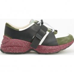 Sportowe buty ze skóry ReDesign - Wielobarwn. Szare obuwie sportowe damskie Reserved, ze skóry. Za 299.99 zł.