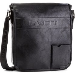 Saszetka LANETTI - RM0193 Black. Czarne saszetki męskie Lanetti, ze skóry ekologicznej, młodzieżowe. Za 119.99 zł.