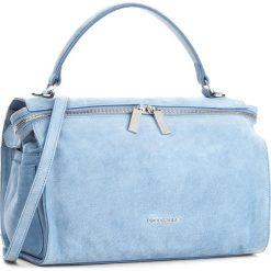 Torebka COCCINELLE - BA1 Atsuko Suede E1 BA1 18 01 01 Azur 021. Niebieskie torebki do ręki damskie Coccinelle, w ażurowe wzory, ze skóry. W wyprzedaży za 849.00 zł.