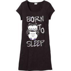 Koszula nocna bonprix czarny - sowa. Czarne koszule nocne damskie bonprix. Za 34.99 zł.