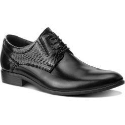 Półbuty LASOCKI FOR MEN - TA-LL39 Black. Czarne eleganckie półbuty Lasocki For Men, z materiału. Za 219.99 zł.