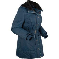 Kurtka pikowana outdoorowa bonprix ciemnoniebieskii. Niebieskie kurtki damskie bonprix, w paski. Za 269.99 zł.