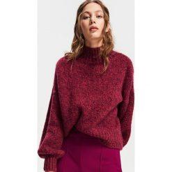 Sweter z wełną - Fioletowy. Fioletowe swetry damskie Reserved, z wełny. Za 179.99 zł.