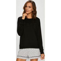 Dkny - Bluzka piżamowa. Szare koszule nocne damskie DKNY, z dzianiny. W wyprzedaży za 199.90 zł.