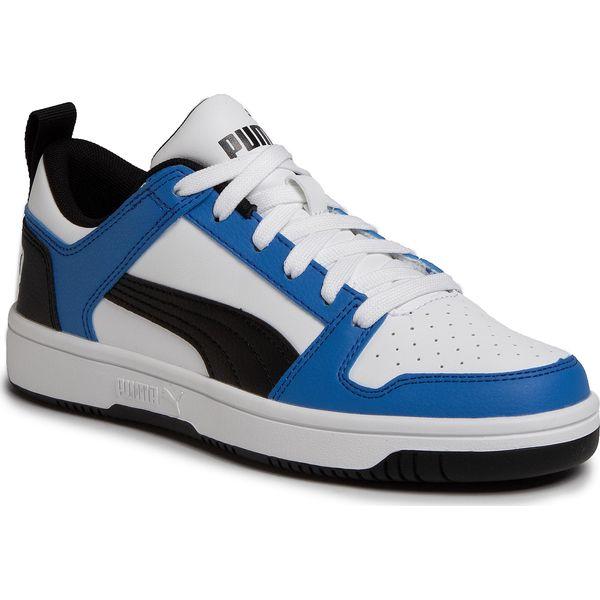 Sneakersy PUMA Rebound Layup Lo Sl Jr 370490 06 Puma WhitePalace BlueBlack