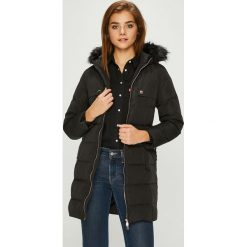 Guess Jeans - Kurtka puchowa dziecięca. Czarne kurtki i płaszcze dla dziewczynek Guess Jeans, z jeansu. Za 559.90 zł.