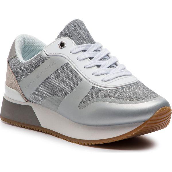 c2816497b38f7 Sneakersy TOMMY HILFIGER - Glitter City Sneaker FW0FW03772 Silver ...