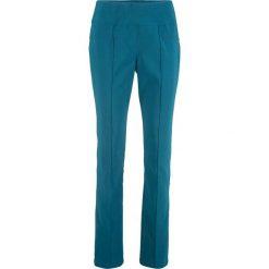 Spodnie ze stretchem wyszczuplające STRAIGHT bonprix niebieskozielony morski. Spodnie materiałowe damskie marki DOMYOS. Za 59.99 zł.