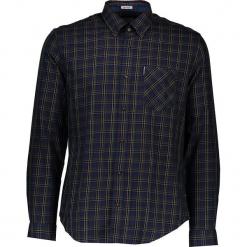 """Koszula """"Heritage Windowpane"""" - Regular fit - w kolorze zielono-granatowym. Niebieskie koszule męskie Ben Sherman, w kratkę, z bawełny, button down. W wyprzedaży za 152.95 zł."""