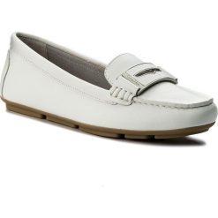 Mokasyny CALVIN KLEIN - Luna E6638  Platinium White. Białe mokasyny damskie Calvin Klein, ze skóry. W wyprzedaży za 429.00 zł.
