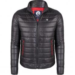 Kurtka zimowa w kolorze czarnym. Czarne kurtki męskie Giorgio di Mare, na zimę, z materiału. W wyprzedaży za 173.95 zł.