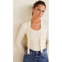 Mango - Bluzka Choc. Szare bluzki damskie Mango, z aplikacjami, z bawełny, casualowe. Za 79.90 zł.