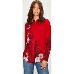 Desigual - Koszula. Czerwone koszule damskie Desigual, z długim rękawem. W wyprzedaży za 199.90 zł.