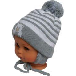 Czapka niemowlęca z szalikiem CZ+S 010B szara. Czapki dla dzieci marki Pulp. Za 36.70 zł.