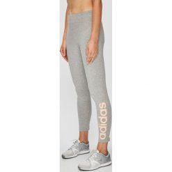 Adidas Performance - Legginsy. Szare legginsy damskie adidas Performance, z nadrukiem, z bawełny. Za 119.90 zł.
