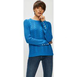 Vero Moda - Sweter Signe. Szare swetry damskie Vero Moda, z bawełny, z okrągłym kołnierzem. Za 129.90 zł.