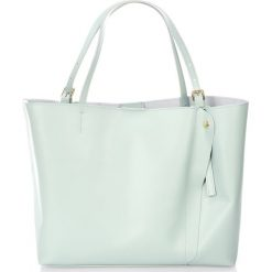 Skórzana torebka w kolorze błękitnym - 45 x 40 x 18 cm. Torebki shopper damskie Stylowe torebki, ze skóry. W wyprzedaży za 300.95 zł.