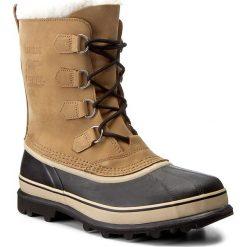 Śniegowce SOREL - Caribou NM1000 Buff 281. Brązowe śniegowce i trapery męskie Sorel, z gumy. W wyprzedaży za 519.00 zł.