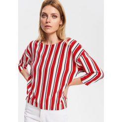 ecb8a66987a579 Bluzka z dekoltem na plecach - Czerwony. Czerwone bluzki damskie Reserved,  l, bez