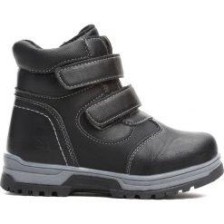 Czarne Traperki Persistently. Czarne buty zimowe chłopięce Born2be, z materiału. Za 64.99 zł.