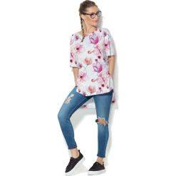 Colour Pleasure Koszulka CP-033  156  biało-różowa r. uniwersalny. T-shirty damskie marki Colour Pleasure. Za 76.57 zł.