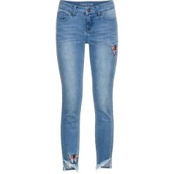 Dżinsy Skinny z haftem, w krótszej długości bonprix niebieski bleached. Niebieskie jeansy damskie bonprix. Za 129.99 zł.