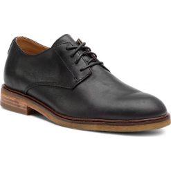 Półbuty CLARKS - Clarkdale Moon 261362537 Black Leather. Czarne półbuty na co dzień męskie Clarks, z materiału. Za 589.00 zł.