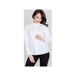 Koszula K384 Biały. Białe koszule damskie Lenitif, biznesowe. Za 119.00 zł.