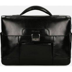 Czarna teczka casual. Czarne torby na laptopa męskie Kazar, w paski, ze skóry. Za 949.00 zł.