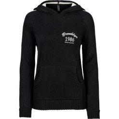 Sweter z kapturem bonprix czarno-biel wełny. Swetry damskie marki KALENJI. Za 89.99 zł.