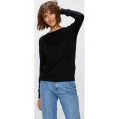 Vero Moda - Sweter. Czarne swetry damskie Vero Moda, z bawełny, z okrągłym kołnierzem. Za 119.90 zł.