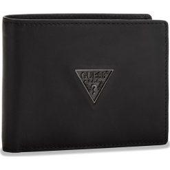 Duży Portfel Męski GUESS - SM2500 LEA20  BLA. Czarne portfele męskie Guess, ze skóry. Za 259.00 zł.